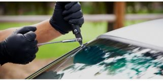 cutting windscreen